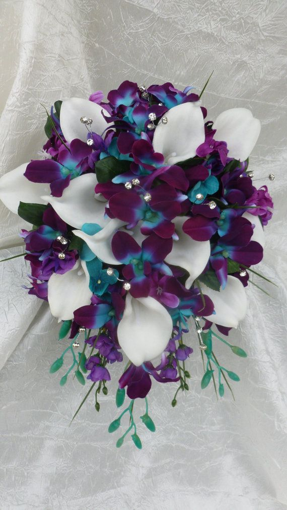 purple calla lily wedding bouquet 17 best ideas about orchid bridal bouquets on 6884