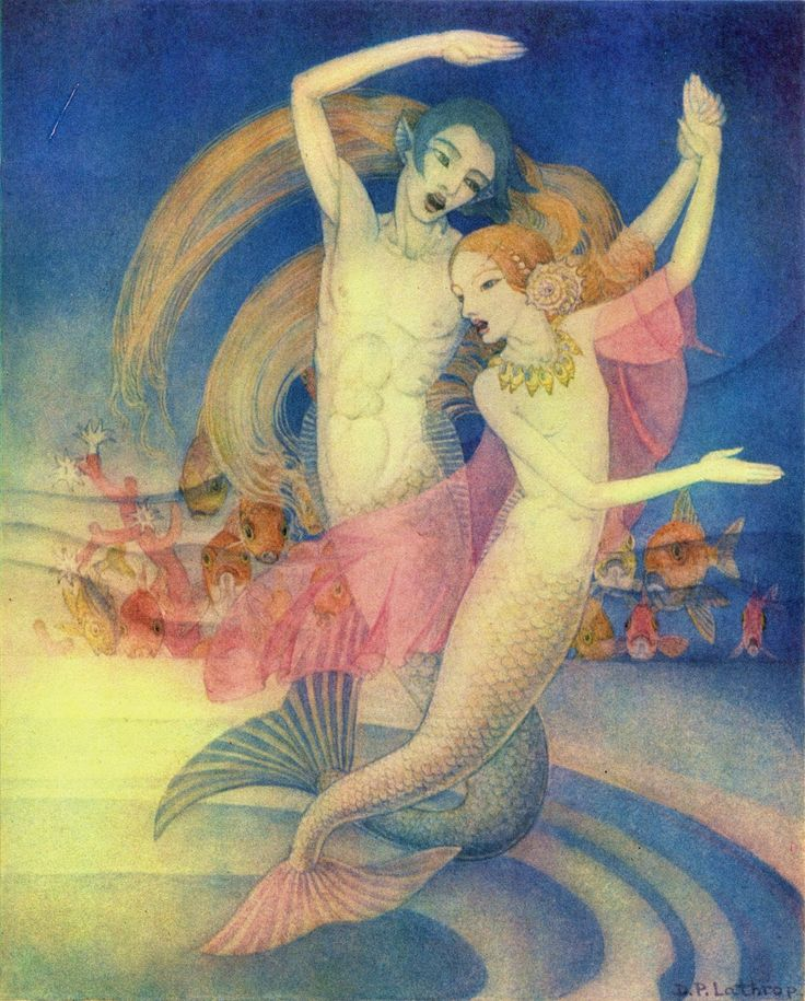 Dorothy Lathrop ~ The Little Mermaid ~ 1939  (In the middle of the room was a broad stream of running water, and on this stream the mermaids and mermen danced to their own beautiful singing.)