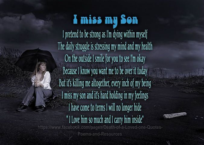 Quotes To Your Son: Quotes About Death Of Son. QuotesGram