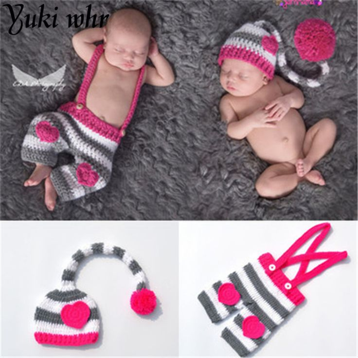 >> Click to Buy << Cute Handmade Knitting Soft Hat Pants Set Baby Clothing Accessories For 0-3 Months Newborn Baby Photography Props pink suit #Affiliate