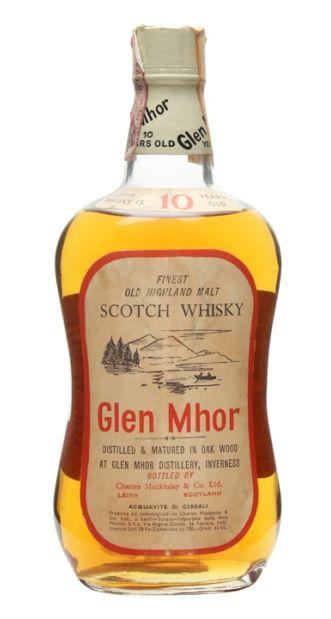Glen Mhor 10 yo Finest Old Highland Malt Scotch whisky bottled in 70's for the italian market.