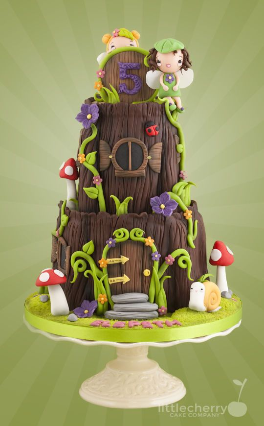 Pixie House Cake | Fairy House - Cake by Little Cherry - CakesDecor