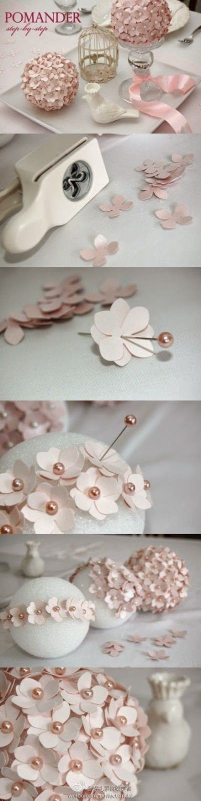 DIY Paper Flower Pomander Tutorial