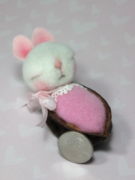ADOPT A BUNNY Needle Felted Animal Adopt a Baby 3 by barby303, $54.00