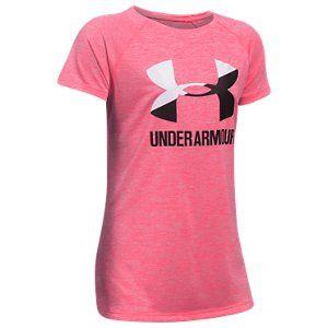 Under Armour Girls Novelty Big Logo Short Sleeve t-Shirt