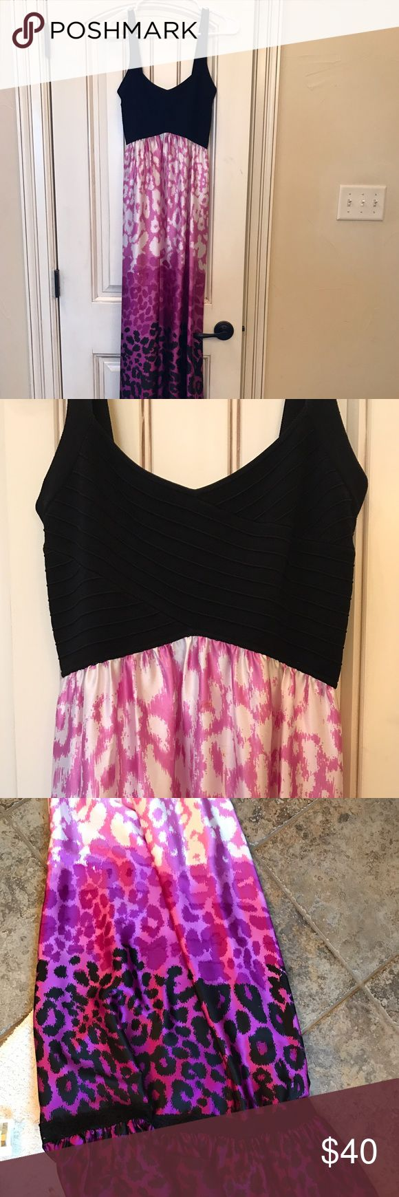 Bebe maxi dress Bebe ombré style leopard maxi dress bebe Dresses Maxi