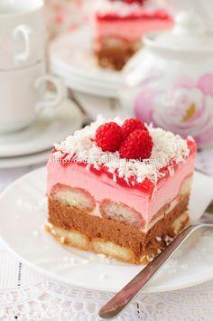 Шоколадно-малиновый торт с Савоярди