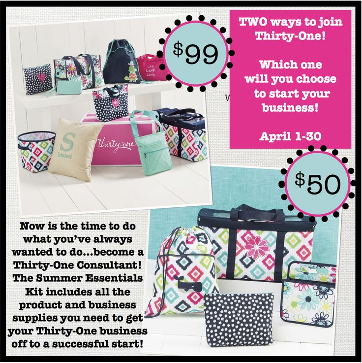 Thirty-One Gifts - Now is the perfect time! Enroll now - April 30th! #thirtyone #thirtyonegifts #consultantkit #31bag #31bags #jointhirtyone #becomeathirtyoneconsultant #findathirtyoneconsultant