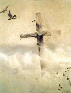 Krzyż w zadymce – obraz Józefa Chełmońskiego z roku 1907. W twórczości swojej Chełmoński kilkakrotnie sięgał po tematykę religijną. Uważał malarstwo za rodzaj artystycznej misji i religijnego posłannictwa.