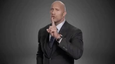 HBO hbo the rock dwayne johnson shh GIF - silence