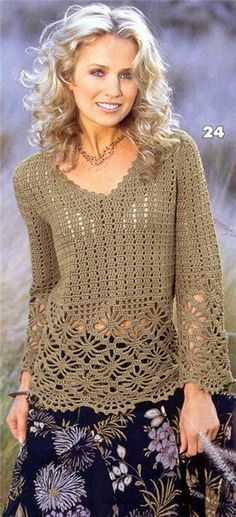 Really like this...uses one of my favorite stitch patterns...spider web lace!