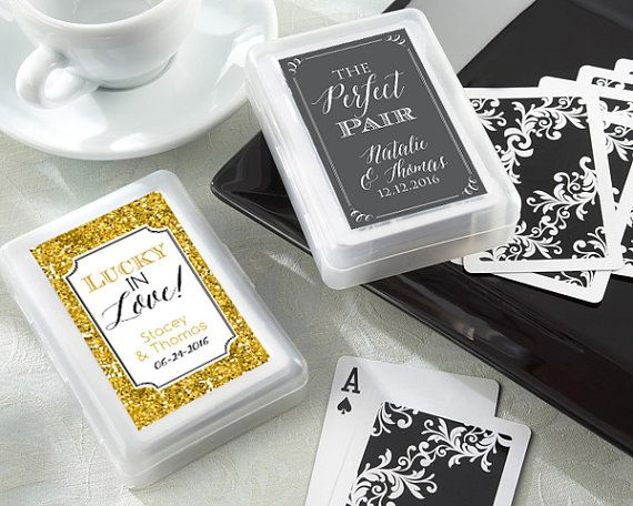 SET of 10 Custom Playing Card Wedding Favor by EventDazzle on Etsy