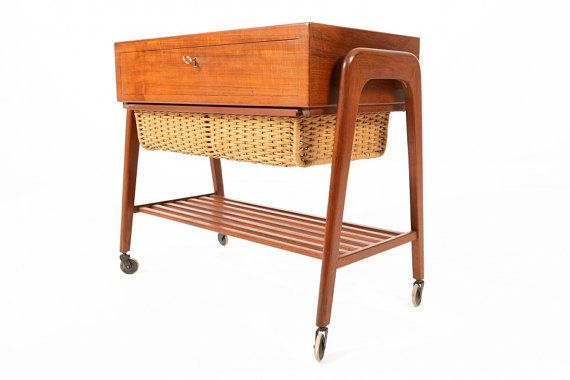 Danish Mid Century Modern Teak Sewing Box by MidCenturyMobler, $475.00