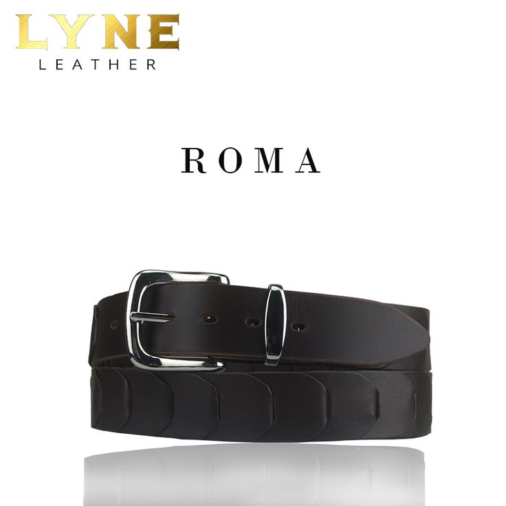 'ROMA' KANGAROO LINKED BROWN BELT. Quality Australian Made Genuine Leather Kangaroo Strong & Reliable Buckle & Keeper
