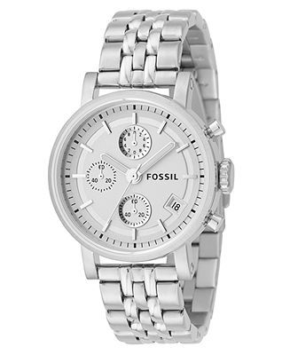 Fossil Watch, Womens Stainless Steel Bracelet 40mm ES2198 - All Fossil Watches - Jewelry & Watches - Macys