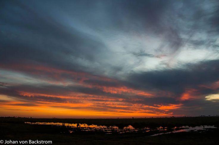 Linyanti sunset #Botswana #safari