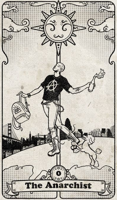 The Anarchist: from the tarot cards deck called Tarot 108. By SKonziner.