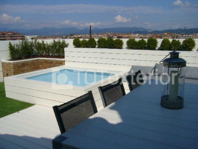 Decoracion de terrazas aticos simple jardines de pared - Decoracion terrazas aticos ...