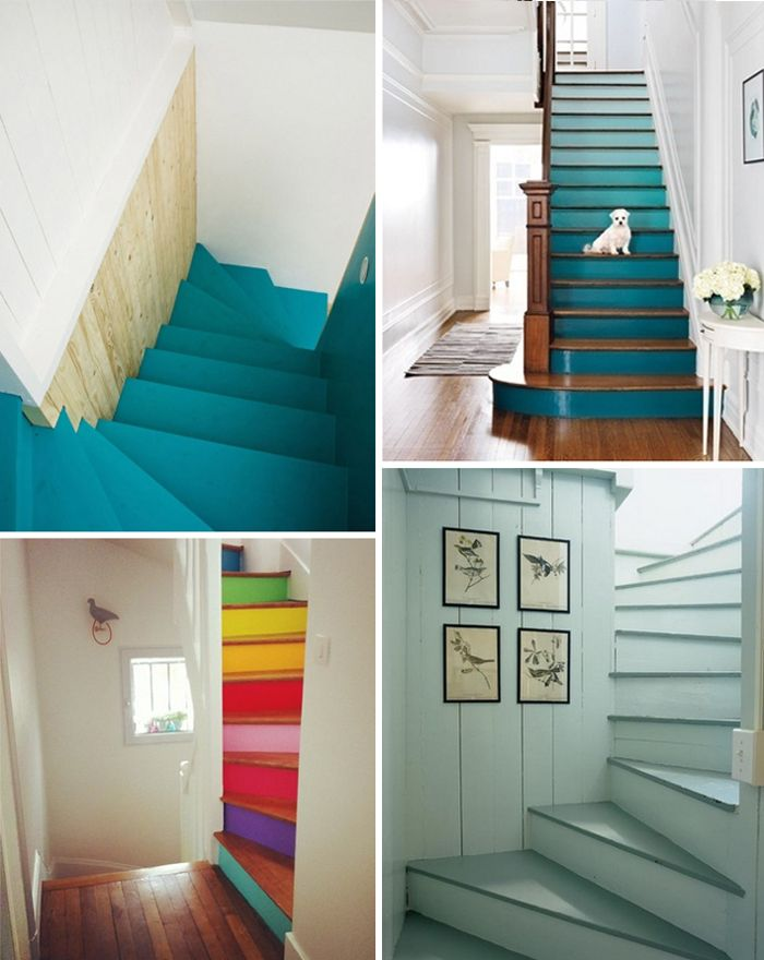 painted staircase inspiration   art bar - love these ombre stairs! ..now i just need a staircase.. makes me miss my townhouse apartment! :(