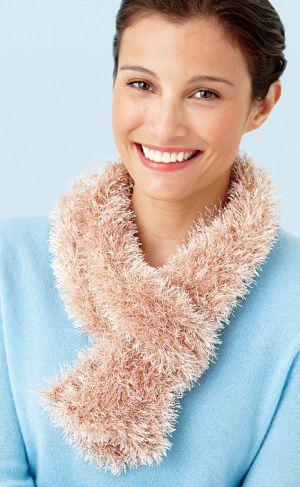 Free Loom Pattern L10398B Loom Knit Sparkle Scarf : @Lion Brand