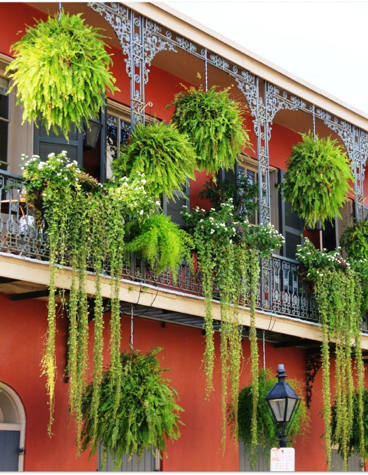 6 beautifully decorated balconies http - Hanging baskets for balcony ...