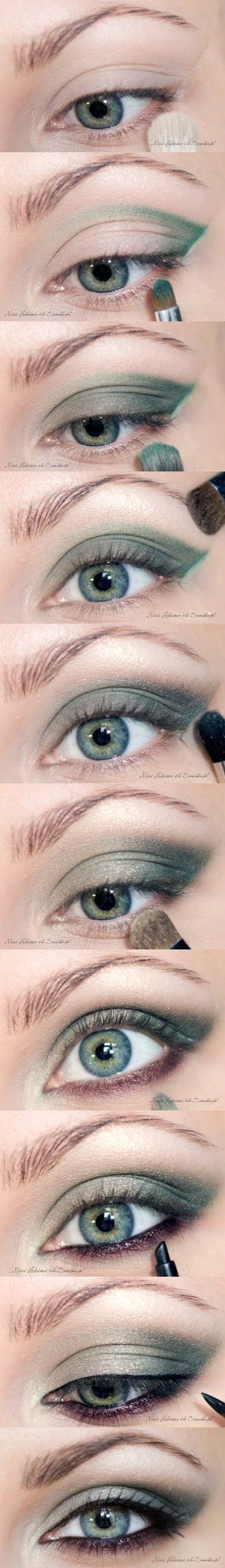 Emerald Smokey Eyes - Eye Make Up Tutoria                                                                                                                                                      More