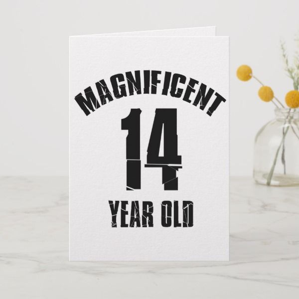 Trending 14 Year Old Birthday Designs Card Fourteenth Birthday