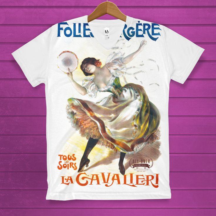 La Cavalieri Women's V-Neck T-Shirt http://lnk.al/3fsH #allovervintage #tshirts #tees #tee #tshirt