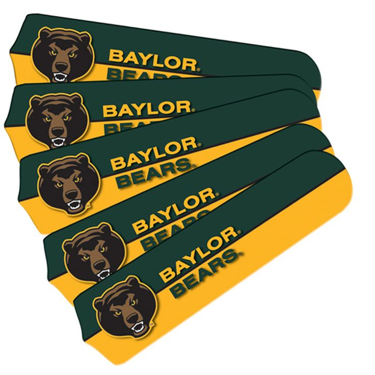 """Baylor Bears 21"""" Ceiling Fan Replacement Blade Set"""