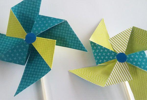 Diy moulin à vent en papier