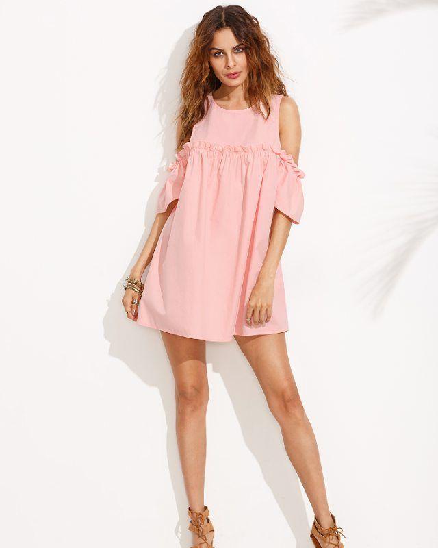 Модное платье с воланами и открытыми плечами �� в розовом и белом цвете!  Размер: S, M По супер цене ��  Цена: 2200р  Успейте приобрести ��  По заказу/всем вопросам Direct, WhatsApp +7 906 584-00-08 ��  Доставка в любой город ��  #_city_trend #блуза #весна #красота #счастье #радость  #мода #стиль #одежда #шоурум #москва #fun #followme #smile #life #pretty #photo #pink #funny #instagallery #fashion #стиль #мода #одежда #fashionblog #бутик #шоурум…