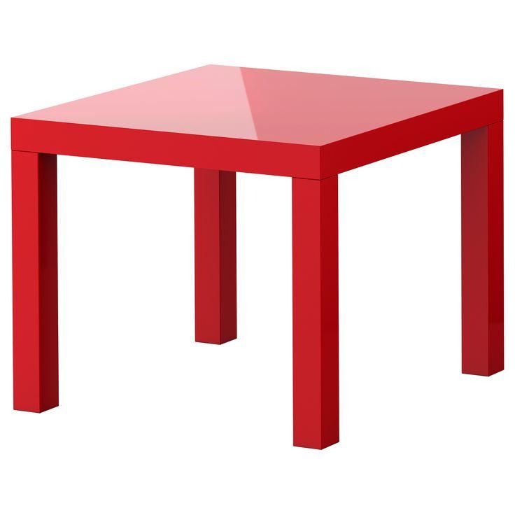 LACK Beistelltisch - Hochglanz rot - IKEA