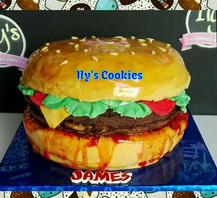 Torta Hamburguesa. Hamburguer Cake *•.¸♥♥¸.•*Ily´s Cookies*•.¸♥♥¸.•*