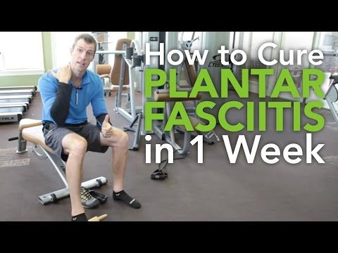 How to cure plantar fasciitis. It will take longer than a week. But these are great recommendations.