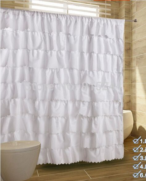 Multi white pink fashion polyster waterproof curtains for Plain pink shower curtain