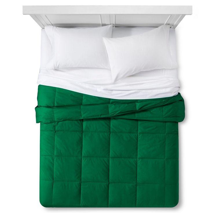 Down Alternative Bafflebox Comforter (Full/Queen) Green - Vcny