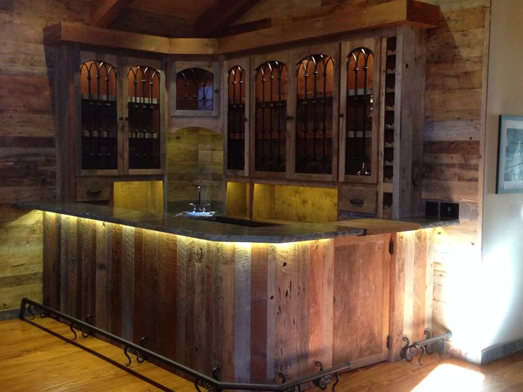 1000 images about vintage reclaimed wood bar on pinterest for Custom bar top ideas
