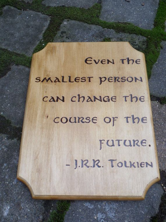 """Even the smallest person can change the course of the future."" — JRR Tolkien These words were really meant for hobbits who were on big journeys. But your baby is also on the journey of life and we hope they take these words to heart. Whether you have a Lord of the Rings-inspired nursery or …"