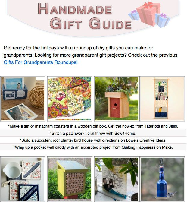 16 diy gift tutorials you can make for the grandparents on your list!