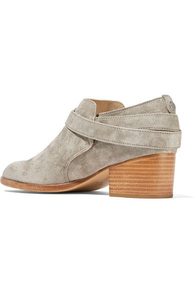 rag & bone - Harley Suede Ankle Boots - Stone - IT36