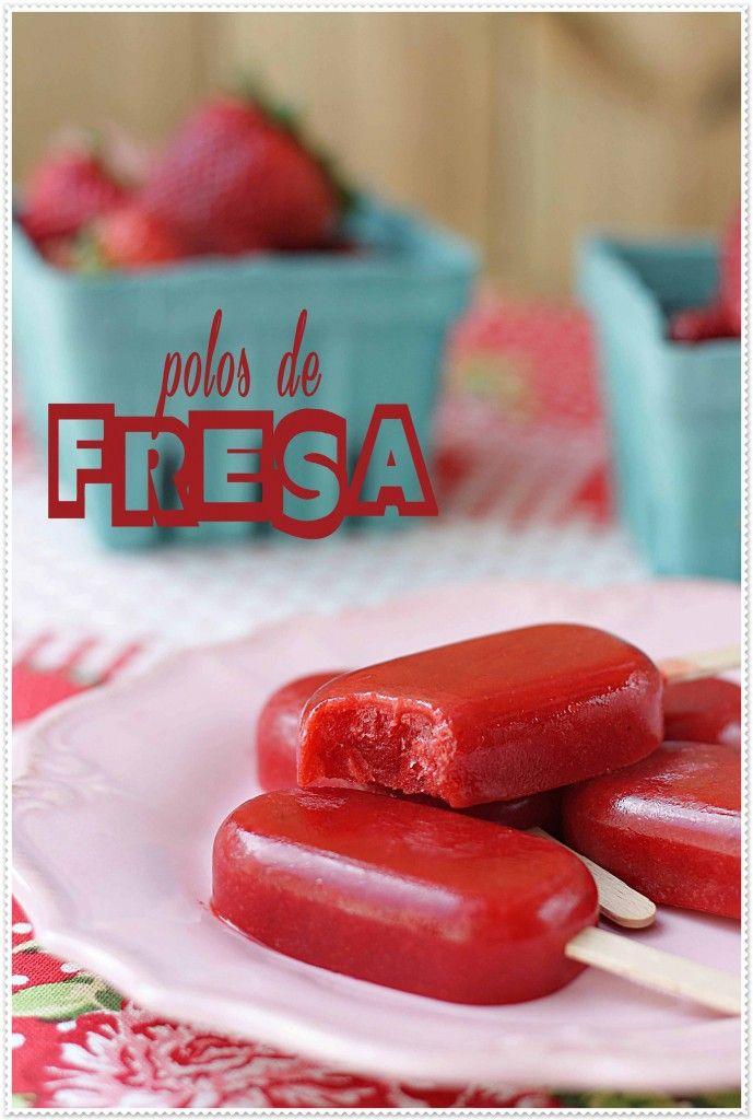 Polos de fresa {by Paula, Con las Zarpas en la Masa}
