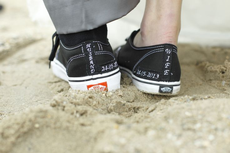 Our wedding shoes; Vans customized. (Converse SUCKS. Vans is the only way to go!✌) But I would like the wife to be white!