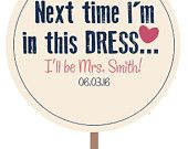 Say YES to The Dress Paddle by KSPRDesigns on Etsy  Such a cute idea to make wedding dress shopping more fun! Saving this idea for when I get married! #weddingdresspaddles