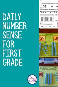First grade number sense. Includes lots of activities like 20 daily worksheets to introduce & practice skills like building numbers, comparing numbers, place value, skip counting, 100 chart. Also includes small group activities.
