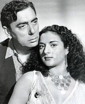 Manolo Caracol (1909+1973) y Lola Flores (1922+1995) cantaores de flamenco. España