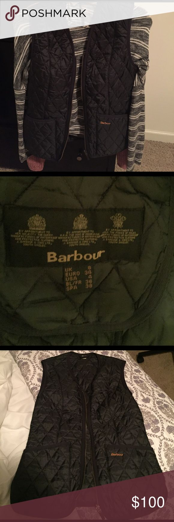 Barely Worn Barbour Vest Navy Blue Barbour Jackets & Coats Vests