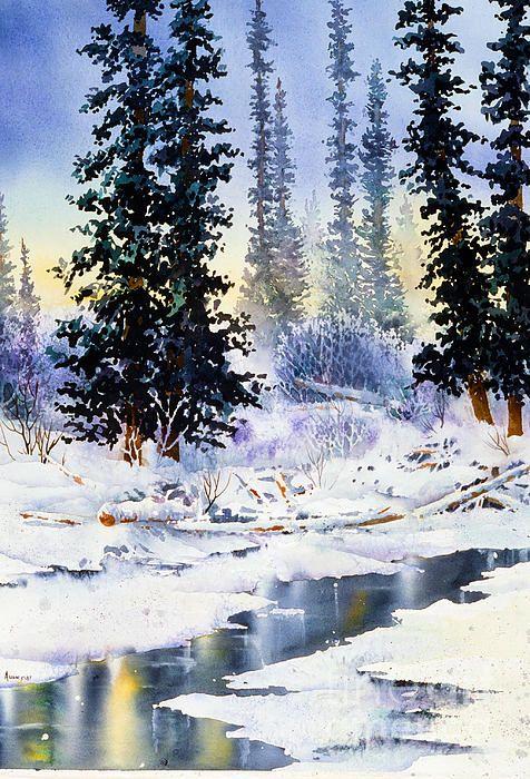 Jack Creek, Wrangell Mountains, Alaska.  watercolor, 22 x 30