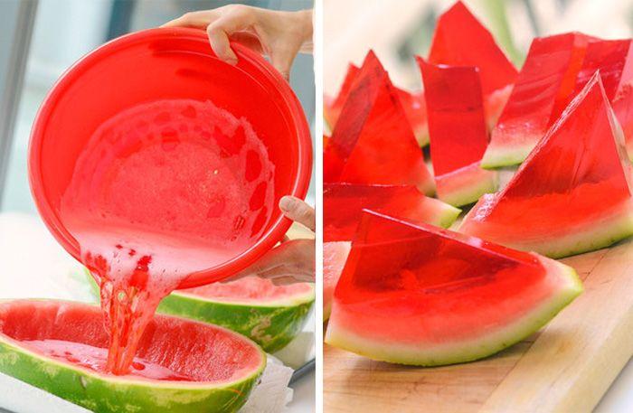 Jelloshots i vattenmelon