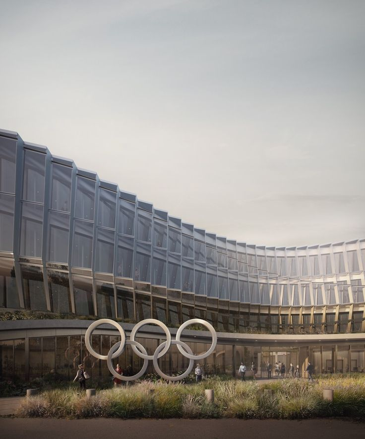 Gallery of New Renderings Revealed of 3XN's Olympic Committee Headquarters as Construction Continues - 1
