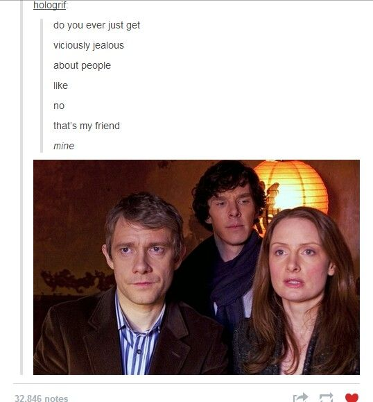 Sharing is not part of Sherlock's extensive vocabulary. // Aww.